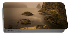 Rialto Beach Rocks Portable Battery Charger by Charlie Duncan