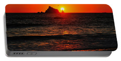 Portable Battery Charger featuring the photograph Rialto Beach Sunset by Greg Norrell