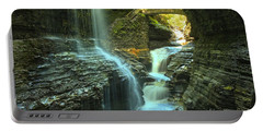Rainbow Falls Watkins Glen Portable Battery Charger by Adam Jewell