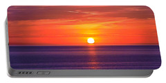 Rich Sunset Portable Battery Charger by Jocelyn Kahawai