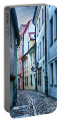 Riga Narrow Street Painting Portable Battery Charger