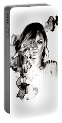 Rihanna Stay Portable Battery Charger by Molly Picklesimer