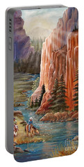 Rim Canyon Ride Portable Battery Charger by Marilyn Smith