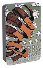 Portable Battery Charger featuring the painting Rind Beauty by Malinda Prudhomme
