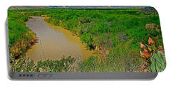 Rio Grande East Of Santa Elena Canyon In  Big Bend National Park-texas Portable Battery Charger