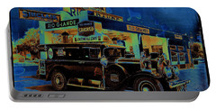Rio Grande Homage 1950  Gas Station And Vehicle C.1935 Portable Battery Charger