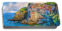 Riomaggiore Morning - Cinque Terre Portable Battery Charger