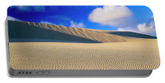 Rippled Sand And Dunes With Blue Sky Portable Battery Charger
