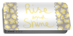 Rise And Shine- Yellow And Grey Portable Battery Charger