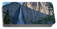 Rising Sun At Upper Yosemite Falls Portable Battery Charger