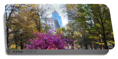 Rittenhouse Square In Springtime Portable Battery Charger by Bill Cannon