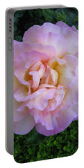 Ritzy Pink Rose Portable Battery Charger