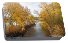 Portable Battery Charger featuring the photograph River And Gold by Christina Verdgeline
