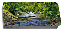 River At Dillsboro Portable Battery Charger