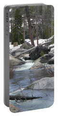 Portable Battery Charger featuring the photograph River Cabin by Bobbee Rickard