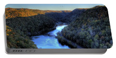 Portable Battery Charger featuring the photograph River Cut Through The Valley by Jonny D