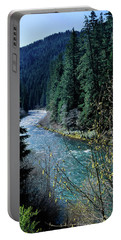River Flowing Through A Forest, North Portable Battery Charger