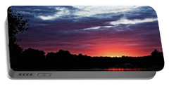 Portable Battery Charger featuring the photograph River Glow by Dave Files