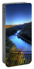 Portable Battery Charger featuring the photograph River Through A Valley by Jonny D