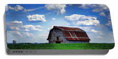 Riverbottom Barn Against The Sky Portable Battery Charger