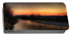 Riverscape At Sunset Portable Battery Charger