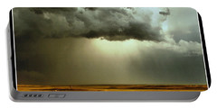 Road Into The Storm Portable Battery Charger by Steven Reed