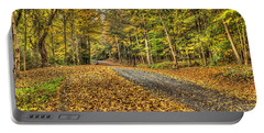 Road Into Woods Portable Battery Charger