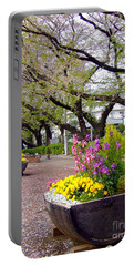 Portable Battery Charger featuring the photograph Road Of Flowers by Andrea Anderegg