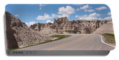 Road Through The Badlands Portable Battery Charger