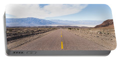 Road To Death Valley Portable Battery Charger by Muhie Kanawati