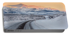 Road With Frozen Landscape, Extreme Portable Battery Charger