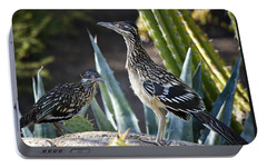 Roadrunners At Play  Portable Battery Charger by Saija  Lehtonen