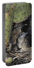 Roadrunners In Nest Portable Battery Charger