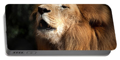 Portable Battery Charger featuring the photograph Roar - African Lion by Meg Rousher