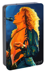 Robert Plant Portable Battery Charger by Paul Meijering