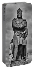 Robert The Bruce Portable Battery Charger by Eunice Gibb