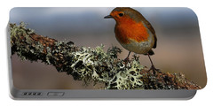 Portable Battery Charger featuring the photograph Robin by Gavin Macrae