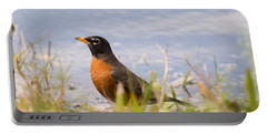 Robin Viewing Surroundings Portable Battery Charger