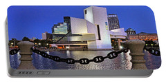 Portable Battery Charger featuring the photograph Rock And Roll Hall Of Fame - Cleveland Ohio - 1 by Mark Madere