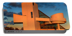 Portable Battery Charger featuring the photograph Rock And Roll Hall Of Fame by Jerry Fornarotto