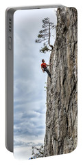 Portable Battery Charger featuring the photograph Rock Climber by Carsten Reisinger