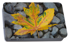 Portable Battery Charger featuring the photograph Rock Creek Leaf by Chalet Roome-Rigdon