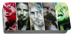 Collage - ' Rock Montage I ' Portable Battery Charger by Christian Chapman Art