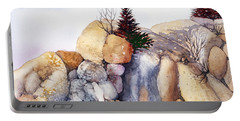 Rock Patterns Turnagain Portable Battery Charger by Teresa Ascone