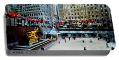 Rockefeller Center Ice Skaters Nyc Portable Battery Charger