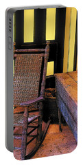 Rocking Chair And Woodbox Portable Battery Charger