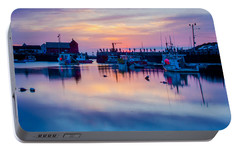 Portable Battery Charger featuring the photograph Rockport Harbor Sunrise Over Motif #1 by Jeff Folger