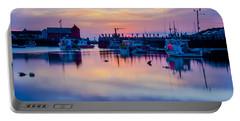 Rockport Harbor Sunrise Over Motif #1 Portable Battery Charger by Jeff Folger