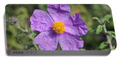 Rockrose Flower Portable Battery Charger by George Atsametakis