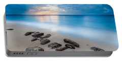Portable Battery Charger featuring the photograph Rocks By The Sea by Mihai Andritoiu